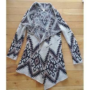 Sun & Shadow southwestern knit open cardigan/duste